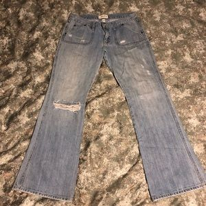 Abercrombie & Fitch Distressed Flare Jeans